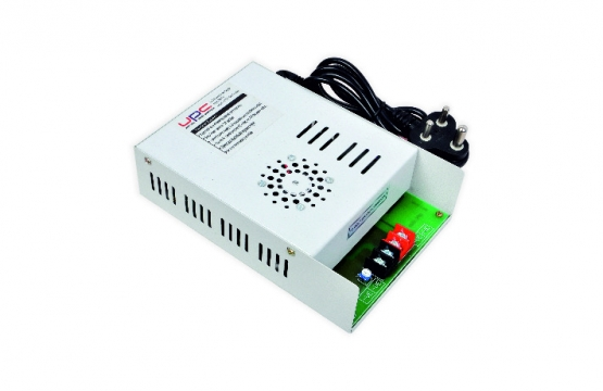 12 V DC 10 AMP WITH VOLTAGE ADJUSTMENT.